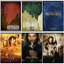 The Lord of the Rings Classic Movie Home Decorative Painting White Kraft Paper Poster 42X30cm