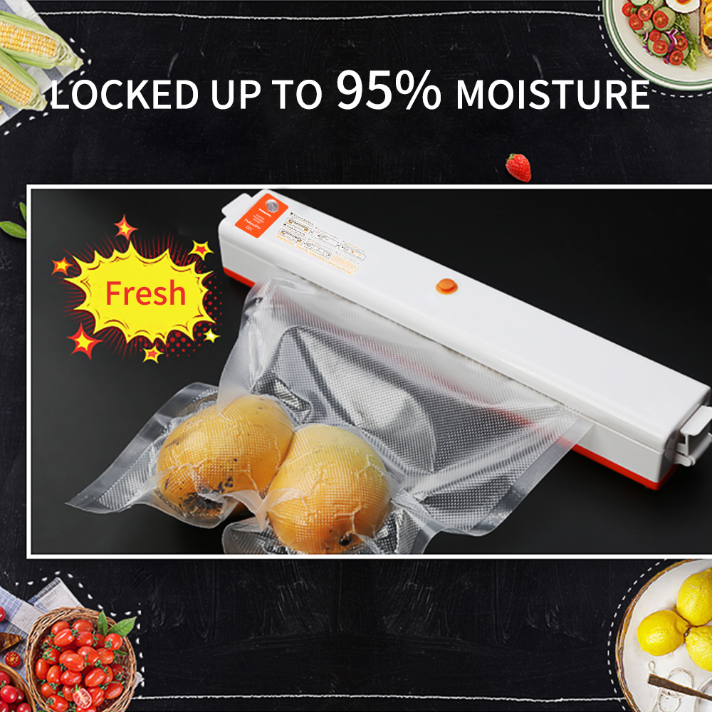 FUNHO 110V 220V Electric Vacuum Food Sealer Machine with Intelligent IC Chip and One Button Operation to Keep Food Fresh 1