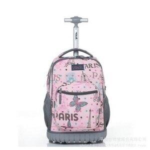 Wózek podróżny dla dzieci plecak torba dla nastolatków plecak na kółkach plecak 18 Cal plecak szkolny dla dzieci
