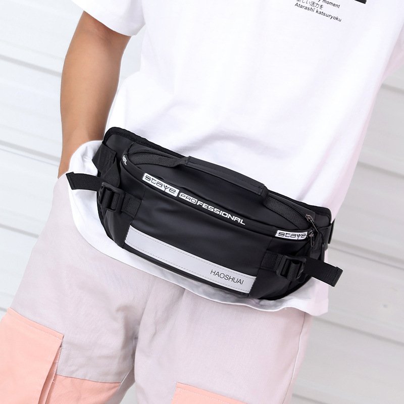 Wallet Men's Korean-style Trend Casual Chest Pack Outdoor Sports Phone Wallet Small Shoulder Bag Nylon Cloth Cash Storage Bag We