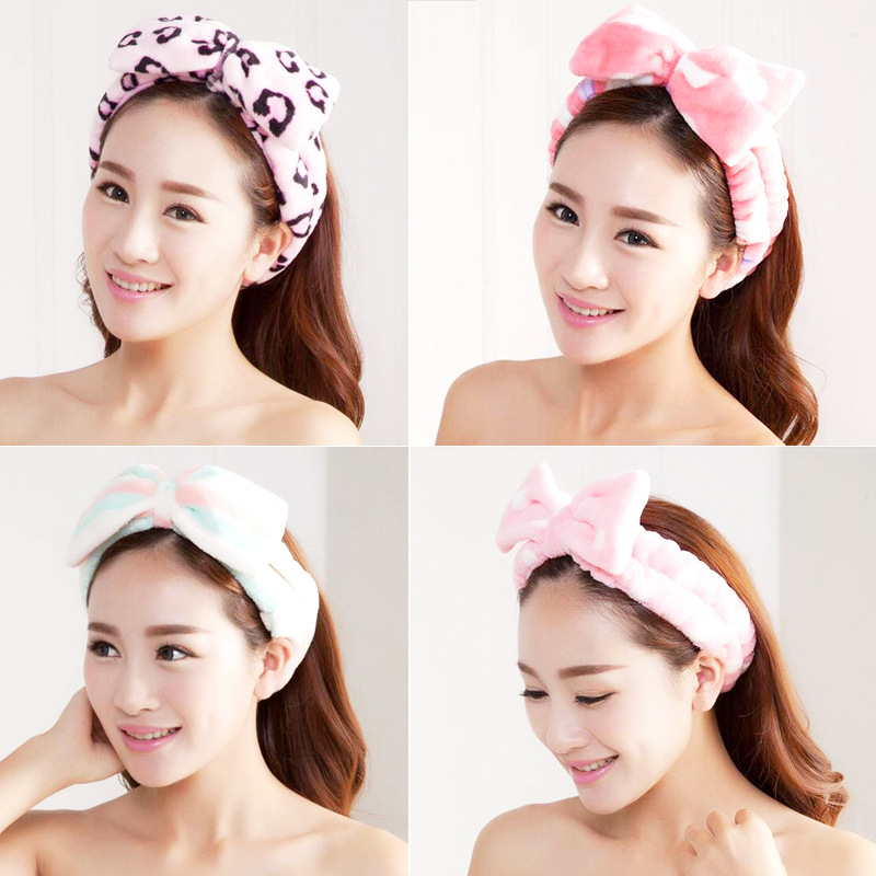 2019 Women Elastic Cotton Hairband Band Bow Knot Cute Head Lovely Hair Accessories Ladies Makeup Headband Elastic Headwear