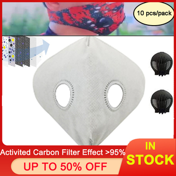Activated Carbon Filters Dustproof Anti Pollution Exhaust Gas PM2.5 Match Tactical Cycling Mask for Home Outdoor Bisiklet Maskes