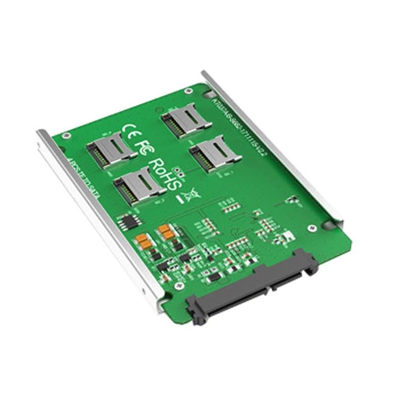 MAIWO 4-Port TF Card To SATA Adapter RAID Quad TF Card To SATA 2.5 Inch Enclosure Converter With Aluminum Alloy Housing Shell