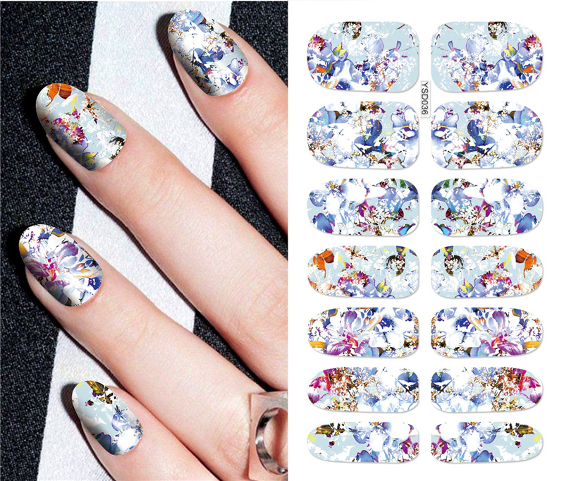 Cross Border Special For Creative Nail Tattoo Sticker 3D Stick Completely Manicure Flower Stickers Fashion Watermarking Adhesive