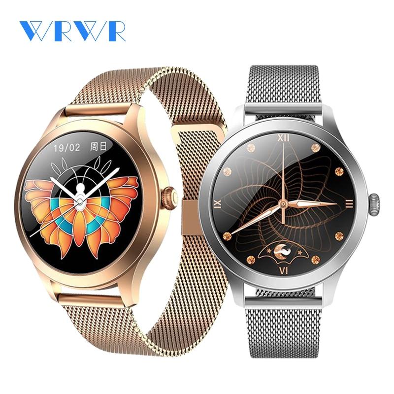 2021 роскошные женские умные часы WRWR, стильные водонепроницаемые наручные часы из нержавеющей стали, повседневные женские умные часы для Android...