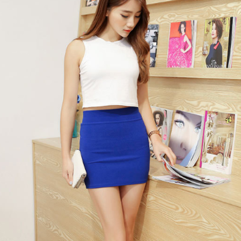 New Micro Mini Skirts 2020 Summer Sexy Girls Skirts Casual Package Hip Short Skirts Women Tight Office Party Female Red Black 50 4