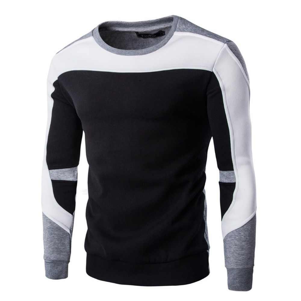 Zogaa 2020 봄 가을 남성 스웨터 남자 코튼 힙합 패치 워크 스티치 스웨터 남성 캐주얼 따뜻한 스웨터 남자