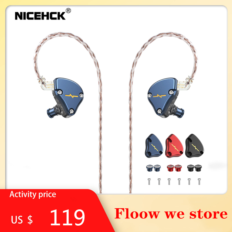 NICEHCK-auriculares de alta fidelidad NX7 MK3, 7 unidades de controladores mejoradas, 4BA + Dual CNT Dynamic + piezoeléctrico híbrido reemplazable, Facepanel IEM
