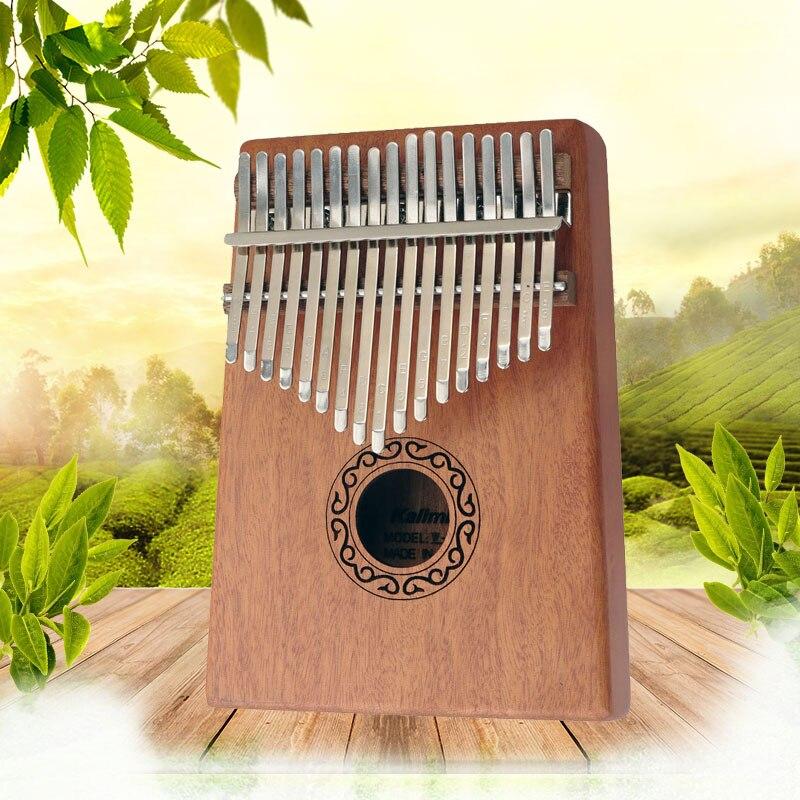 Kalimba 17 clé pouce Piano acajou doigt bois de haute qualité Mbira Likembe Instrument de Percussion africain solide Kalimbas pour les enfants