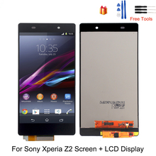 For Sony Xperia Z2 LCD Display Digitizer Assembly Glass For Sony Xperia Z2 D6502 D6503 Display Screen LCD Replacement Free Tools original lcd display touch screen digitizer for sony xperia z2 l50w d6502 d6503 assembly replacement