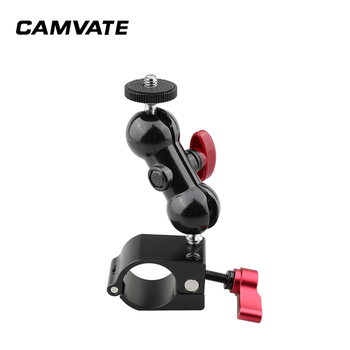 """CAMVATE 25mm Rod Clamp With 1/4"""" Ball Head 360 Degree Swivel Monitor Support For DJI Ronin-M Handheld Gimbal (2 Pieces) C2295"""