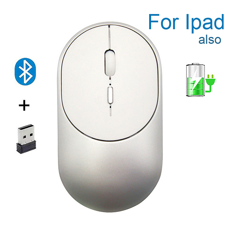 Bluetooth 5.1+2.4G Wireless Dual Mode Rechargeable Mouse Optical USB Gaming Computer Charing  Mause New Arrival For Mac Ipad PC