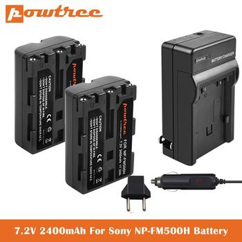 Batería de repuesto NP-FM500H 2.4Ah + cargador USB para Sony Alpha A57...
