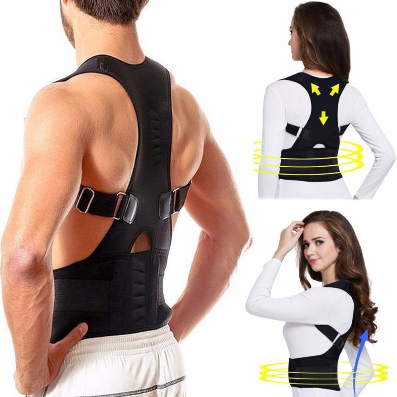 YOSYO Adjustable Back Posture Corrector Magnetic Therapy Posture Corrector Brace Shoulder Back  Brace Support Belt NO Slouching|Braces & Supports|   - AliExpress