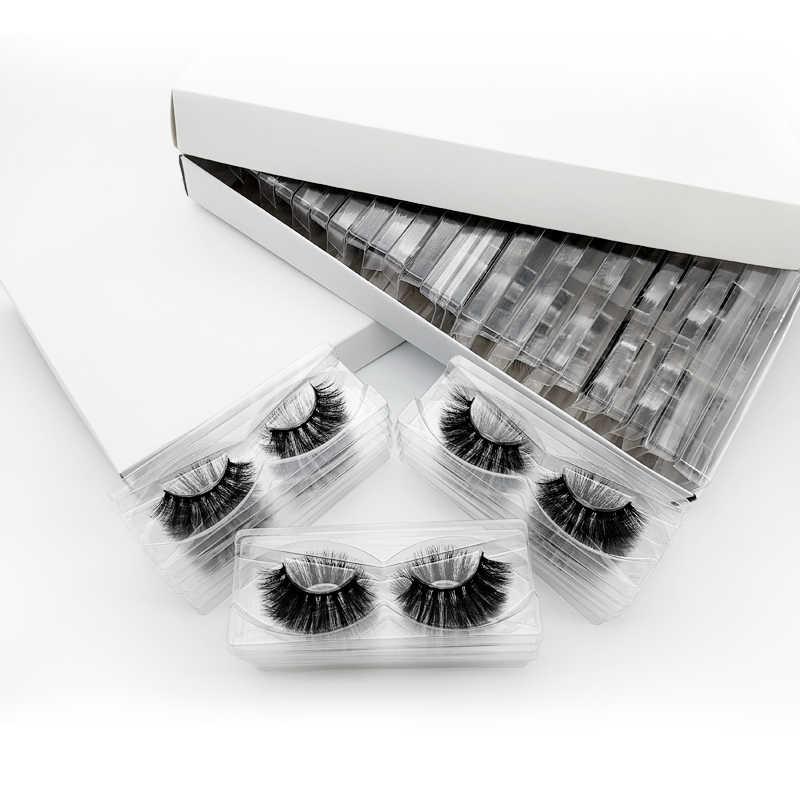 SDSP 20/40/50/100 Pairs DIY logo Eyelashes Box packaging  dramatic Fake Eyelashes Faux Mink Lashes fulffy MakeupLashes