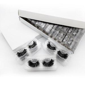 Image 3 - SHIDISHANGPIN 20/40/50/100 Pairs DIY logo kirpik kutu ambalaj dramatik sahte kirpik Faux vizon kirpiklere kabarık MakeupLashes