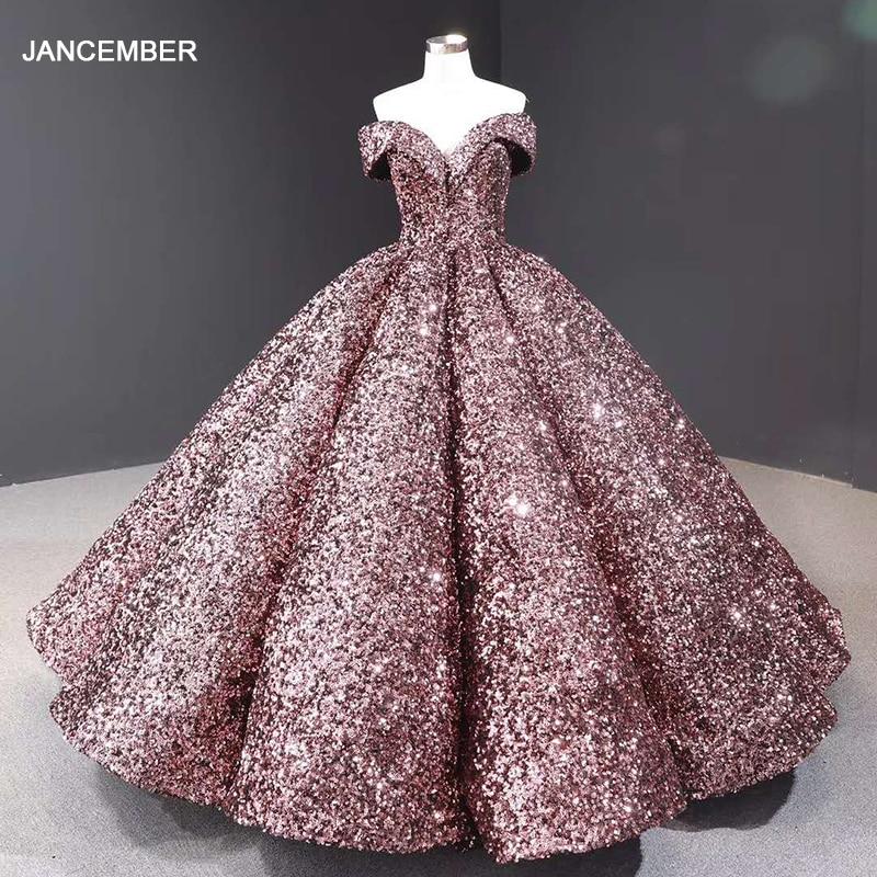 J66991 Jancember Evening Gowns Dubai Sweetheart Off The Shoulder Sequin Party Dress Evening Dresses Prom Vestidos De Graduación