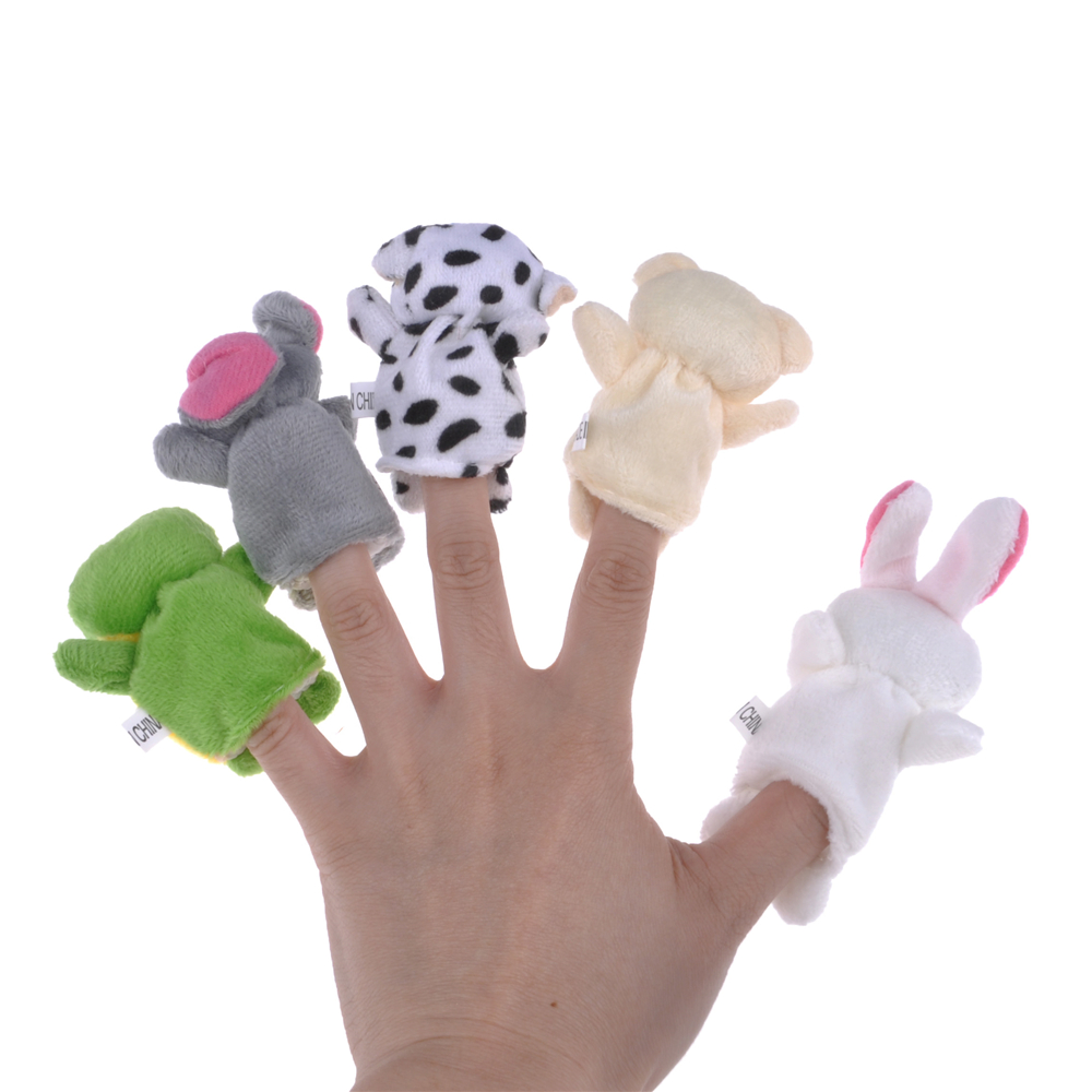 Animal Hand Puppet Flannel Finger Play Toy …