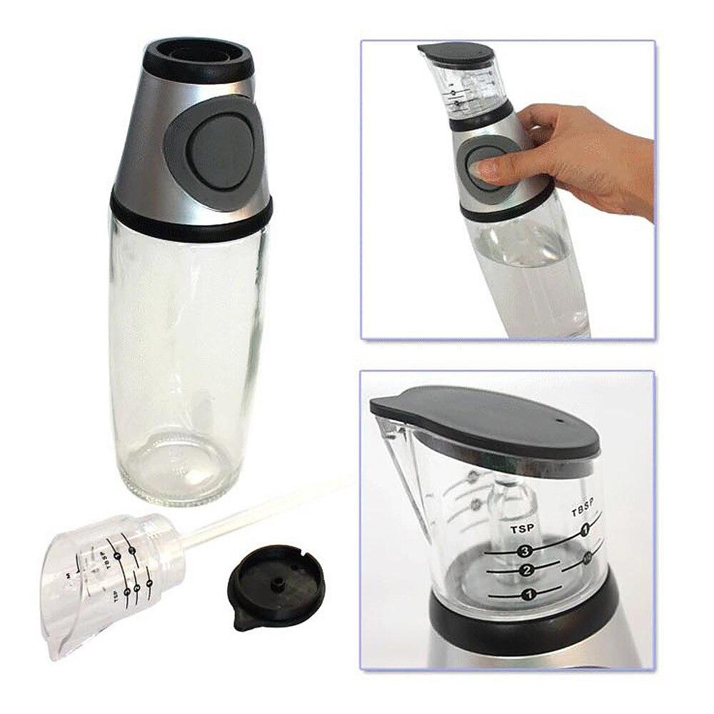 500ML Oil Bottle Dispenser Measurable Glass Oil Bottle Seasoning Container For Kitchen Cooking Oil Vinegar Dispenser Home Gadget