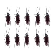 10Pcs Plastic Prank Simulation Cockroaches Toy Halloween Decoration Realistic Prop Funny Trick Toys for Party