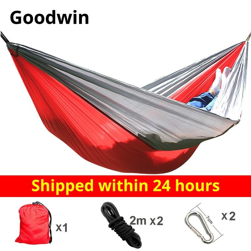 Hammock Nylon Camping Survival Garden Hunting Leisure Travel Double Person Portable Parachute Hammocks