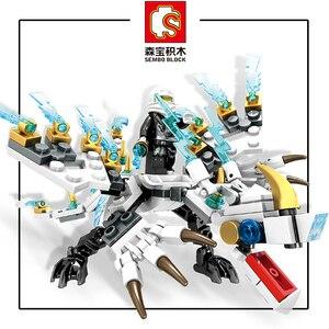 Image 3 - を千房けん輔ブロック142個ninjagosドラゴン騎士互換忍者zane会ジェイ教育diyのレンガのおもちゃ子供