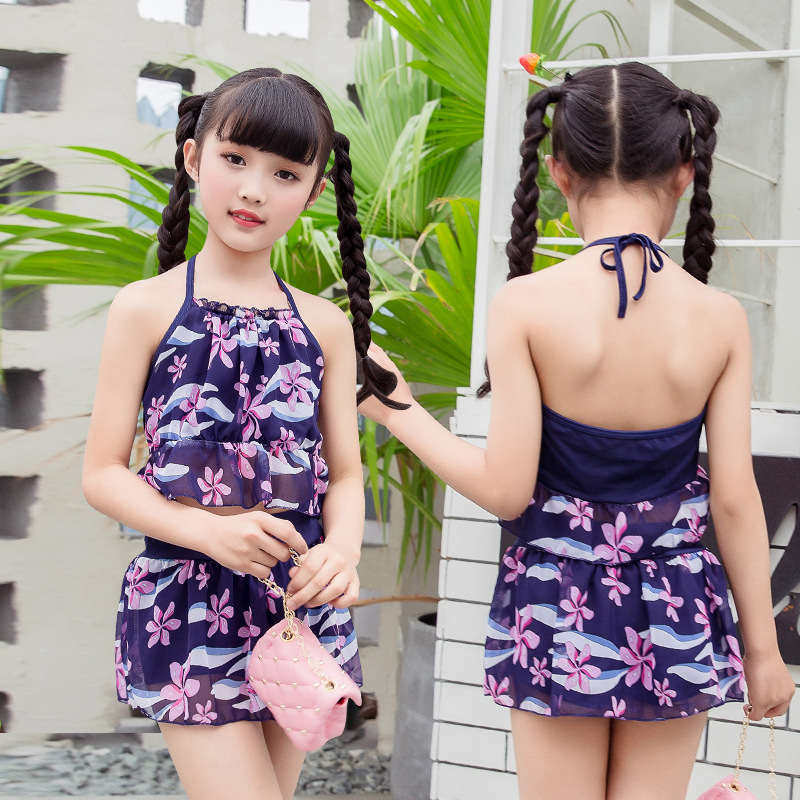 CHILDREN'S Swimwear Split Two-Piece Set Big Boy Bathing Suit Bikini Boxers GIRL'S Swimsuit Nt108817