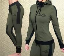 Женский спортивный костюм zogaa комплект из двух предметов толстовка