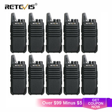 Cheap Walkie Talkie 10 pcs Retevis RT22 FRS RT622 PMR Radio PMR446 Professional Walkie talkies Woki Toki Hotel Restaurant Cafe