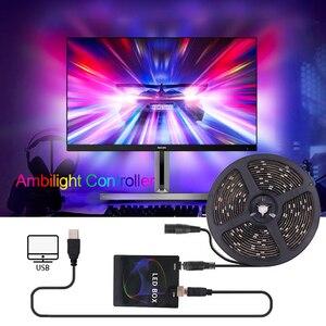5v diy tv usb led strip controlador ambiente hdtv computador monitor backlight pc sonho tela caixa de luz para endereçável led strip