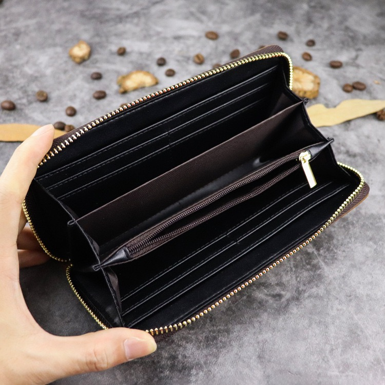 Large capacity multi card cash long dark chain wallet - 5