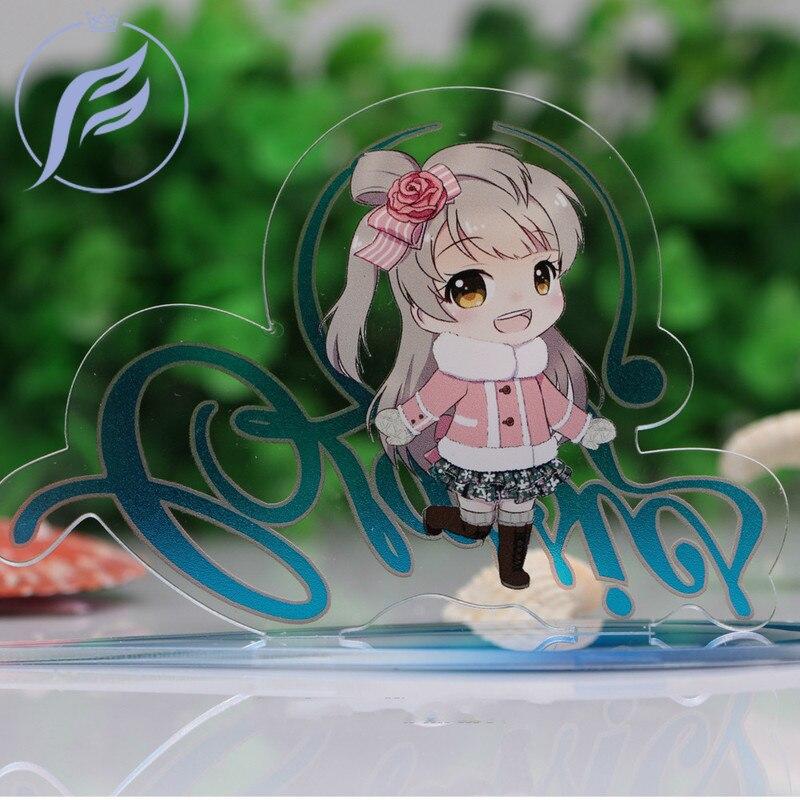 FANGQINGMAO 2 Pcs 7cm Make Acrylic Custom Charm Stand /custom Character Anime Figure Model Display Stand