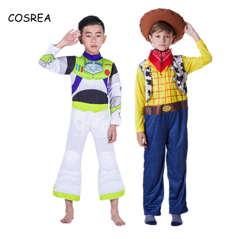 Toy Buzz Light Year Story Costume Woody Cosplay Outfit halloween costume for kids Carnival Buzz Lightyear Woody Toys