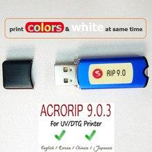 AcroRIP-logiciel d'impression à jet d'encre blanc ver 9.0 RIP, avec clé de verrouillage, avec boîte pour imprimante Epson UV, à plat, 1 pièce