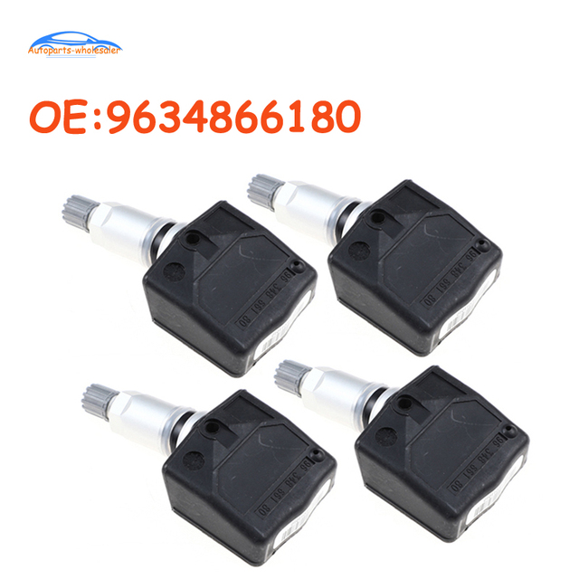 4 pcs/lot 9634866180 96 348 661 80 For Citroen For Peugeot 807 2002 2005 TPMS Sensor Tire Pressure Monitor System TPMS Sensor