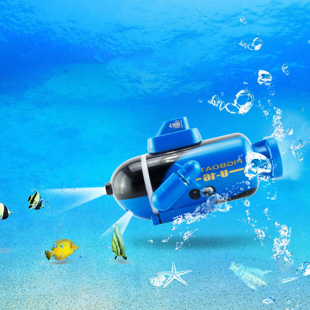 Mini Radio Racing RC Submarine Remote Control Boat Kids Toy With LED