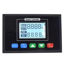 Dijital ekran 0 ~ 100% ayarlanabilir DC 12V 24V 36V 48V 40A PWM DC Motor hız kontrolörü zamanlama kontrol geri dönüşümlü