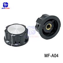 Diymore – Insert en métal noir, 5 pièces/lot, MF-A04, 6mm, molletonné Boutons de commande de potentiomètre, capuchon de commutateur, diamètre de 33mm x hauteur de 16mm