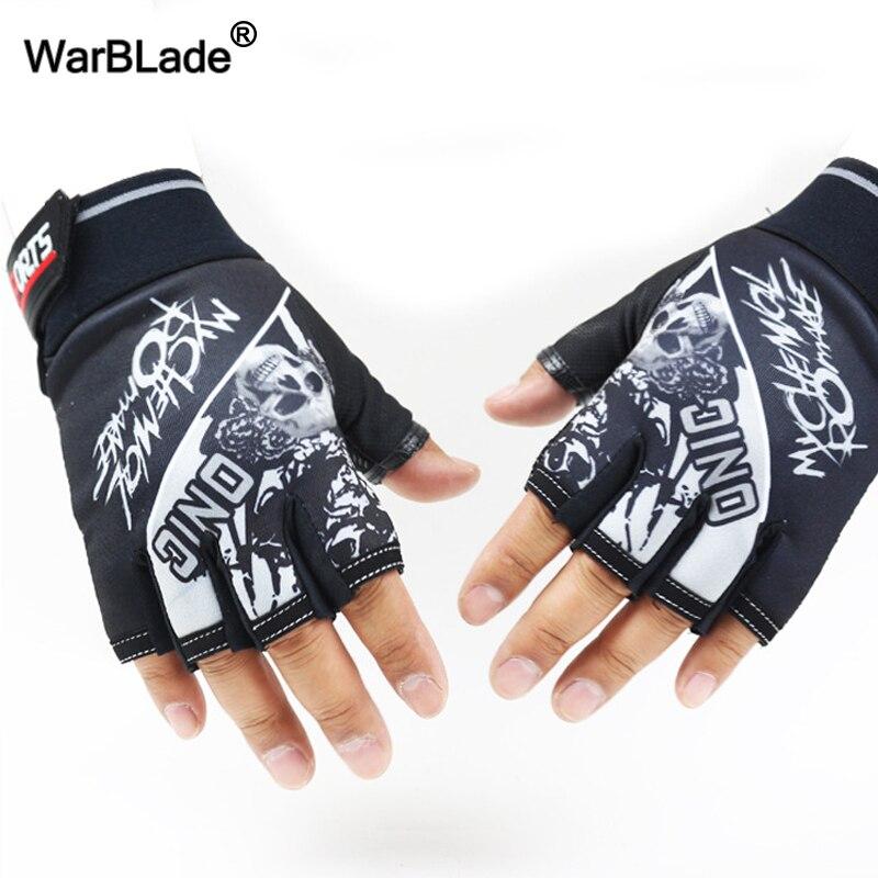 Men's Half Finger Gloves Wolf Pattern Sports Tactical Gloves Slip-resistant Antiskid Cycling Bike Gym Fitness Semi-finger Gloves