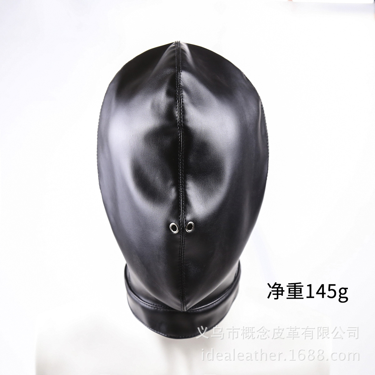 Sex Products Restraint Slave BDSM Bondage Sex Toys High Quality PU Leather Full Hooded Mask Blindfold Open Nostril Heads