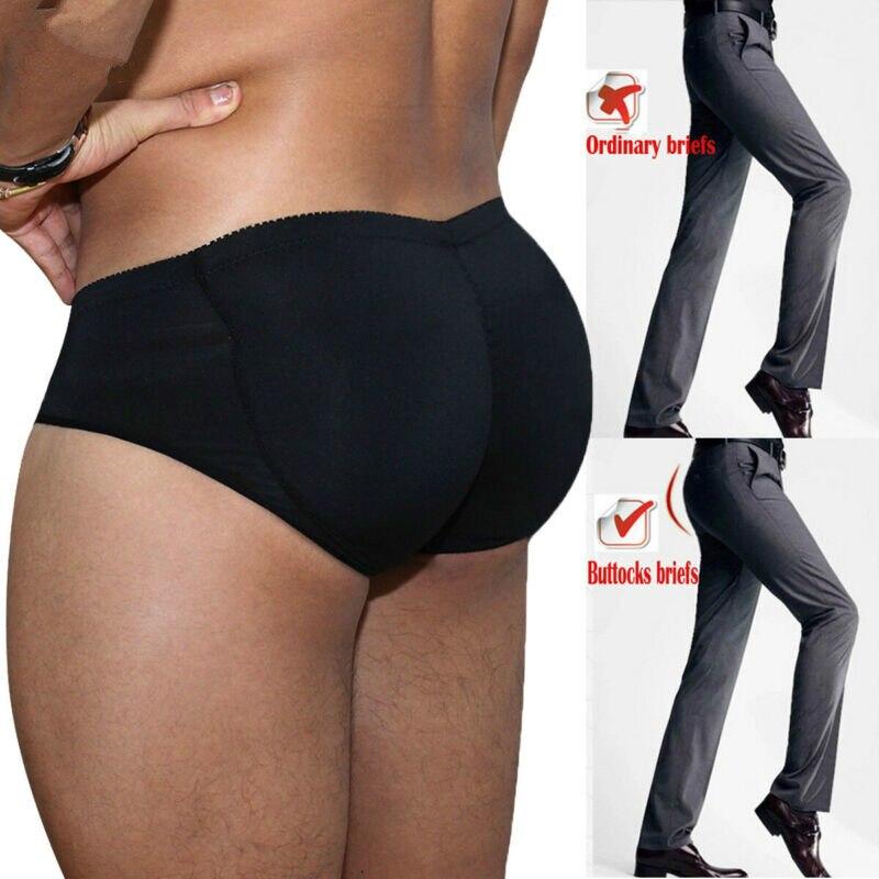 S -3XL Men's Padded Butt Enhancer Booty Booster Molded Boyshort Underwear Briefs