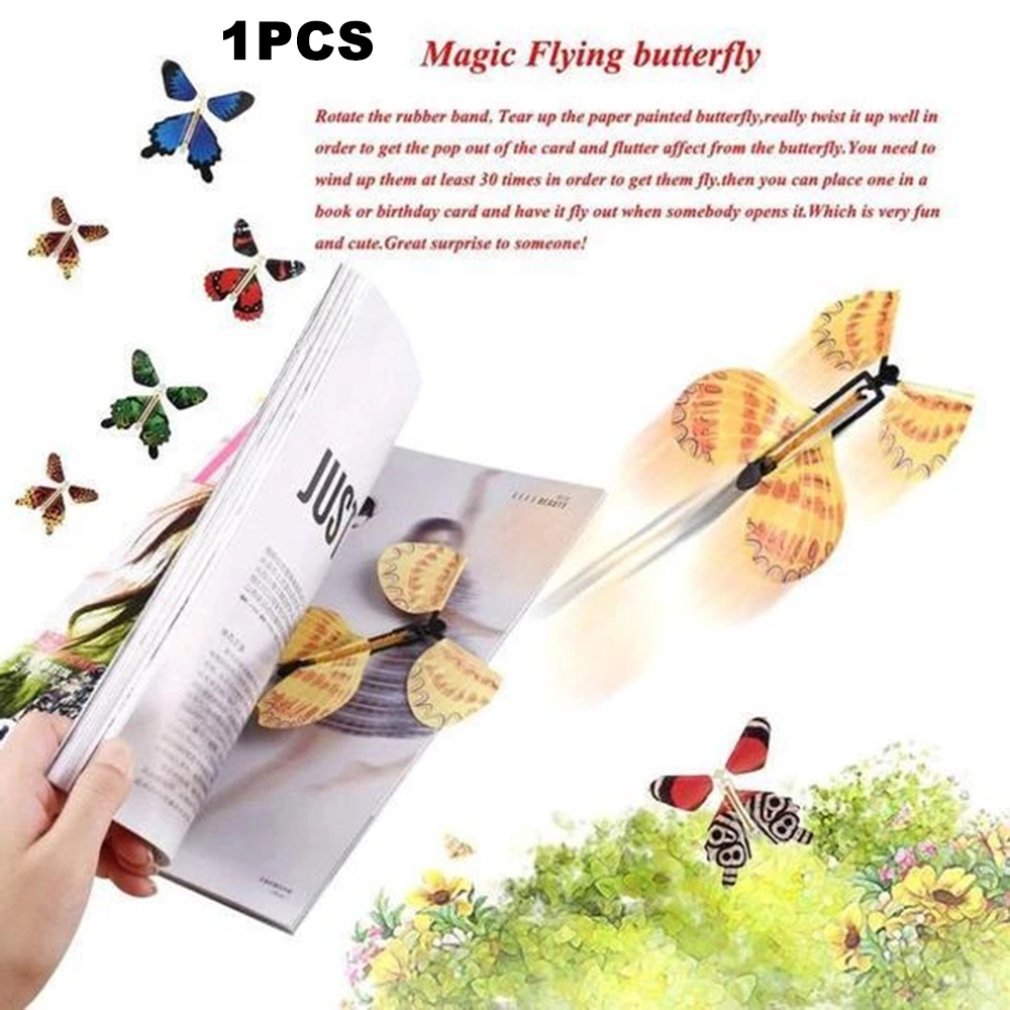 Flying Butterfly Little Magic Tricks Pupa Into Butterfly Free Butterfly Novel Creative Magic Props Children Toy Flying Butterfly