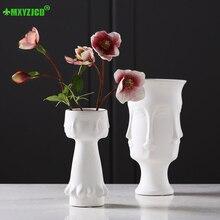 Potted Sculpture-Decoration Vase-Character Ceramic Garden Flower-Arrangement-Container