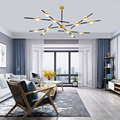 Современный минимализм  креативная черная подвесная люстра для гостиной  спальни  кухни  столовая коридор  украшение для квартиры  лампа
