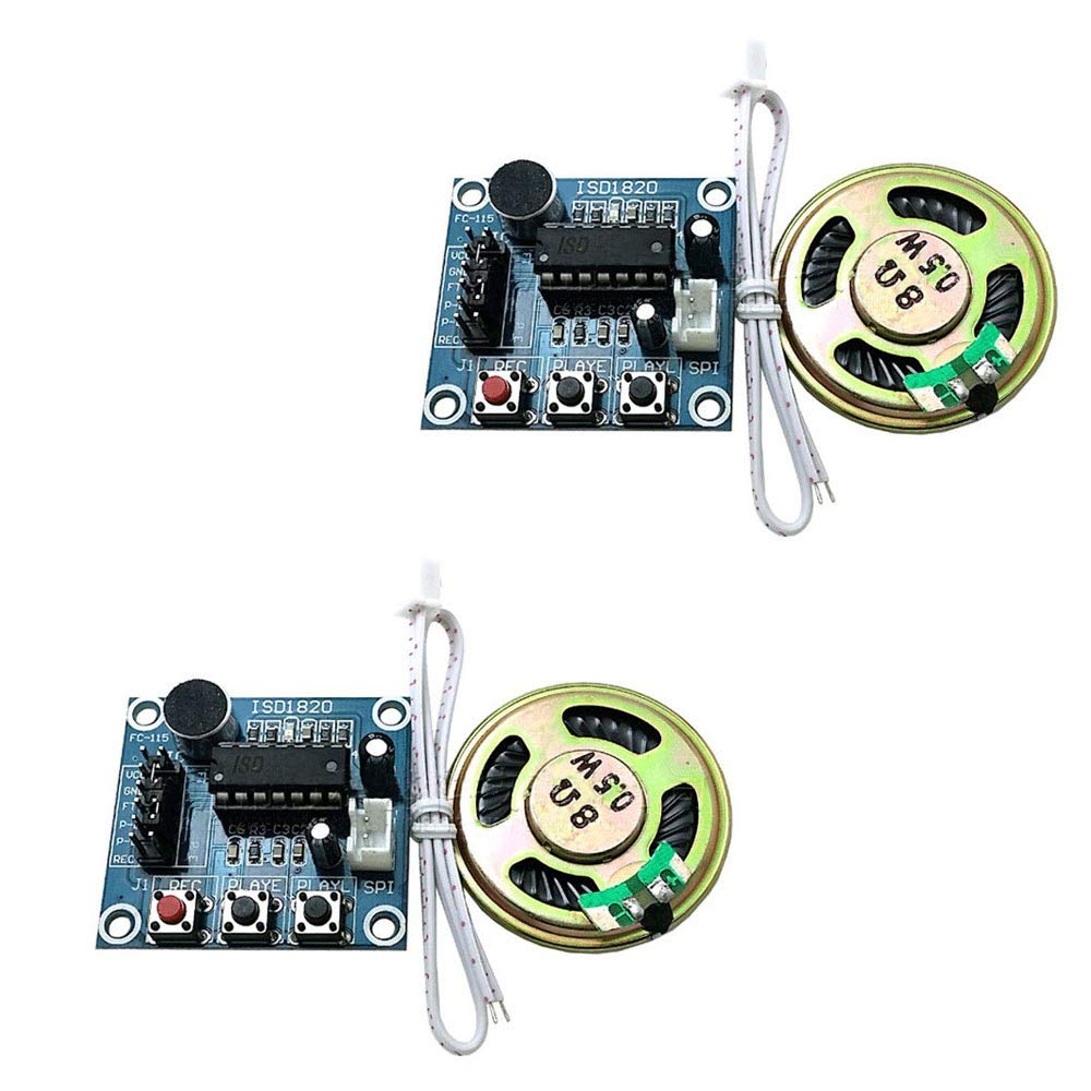 ISD1820 Voice Recording Recorder Playback Module With Microphones Sound Audio Loudspeaker For Arduino Diy Electronic Kit