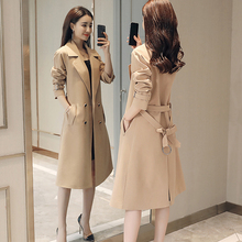 Spring Autumn Trench Coat Women's Slim Double breasted Trench