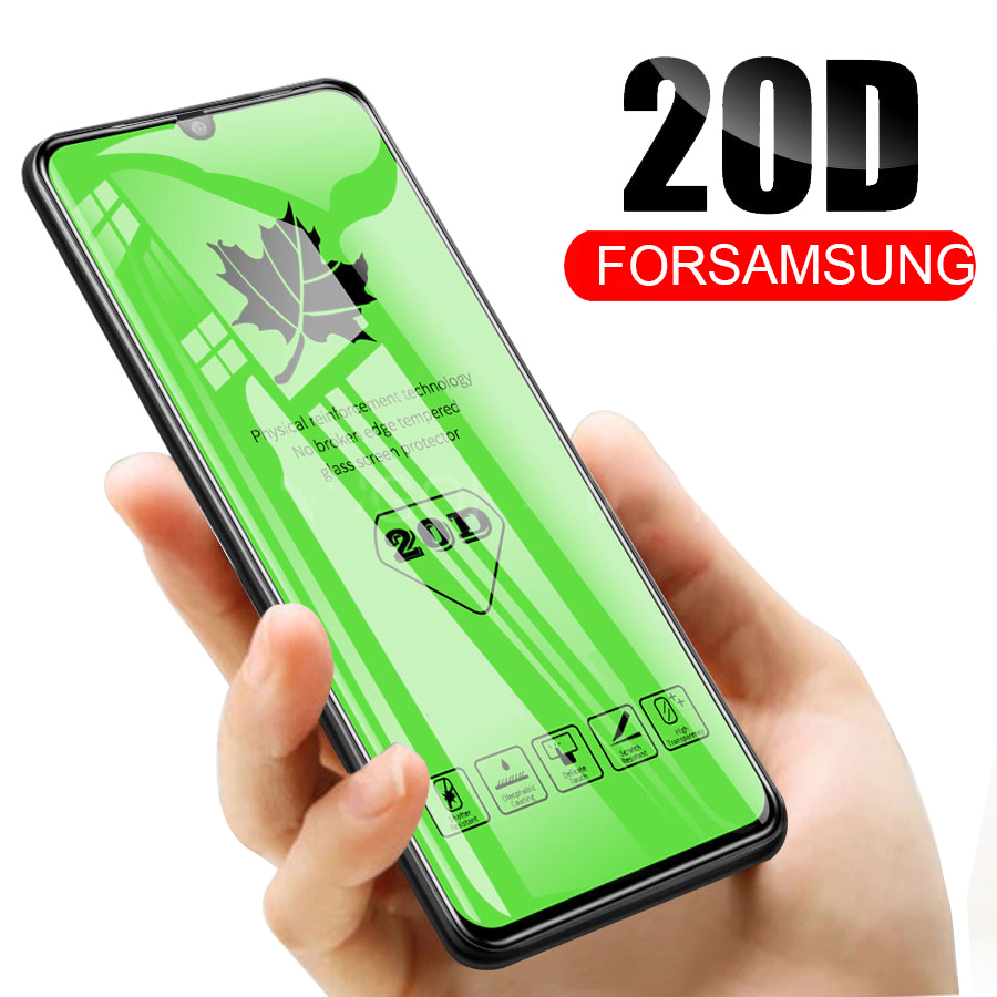 RDCY 20D Maple Leaf Full Coverage Tempered Glass For Samsung A50 M10 M20 M30 M40 A10S A20S A30S A50S A8S A9 2019 A10 A20 A30 A40