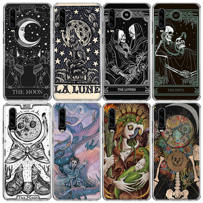 Witches moon Tarot Mystery totem) Phone Case For Huawei P40 P30 P20 P10 Mate 10 20 30 Lite Pro P Smart Z Plus 2019 2018 Cover Co