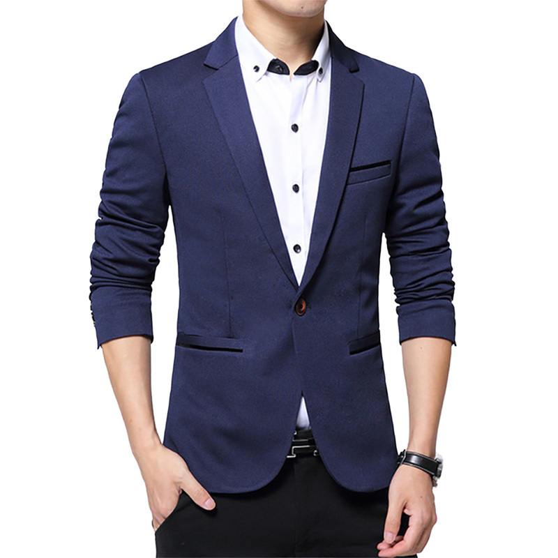 Plus Size Mens Blazer Jacket Luxury Men Clothing Single Button Smart Casual Male Coat Slim Fit Blazers Fashion Korean Outwear
