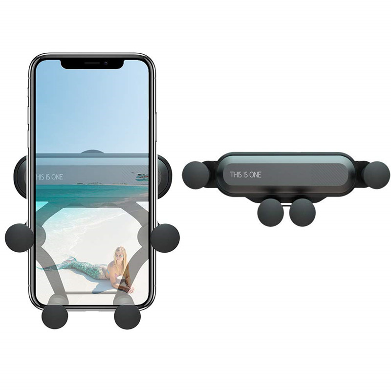 This Is One Holder Automatic Gravity Clamping Grip Car Air Vent Phone Hand Stand For IPhone Samsung Xiaomi Huawei Support Mount
